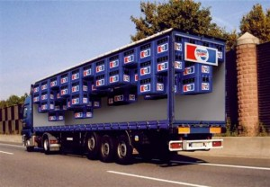 Pepsi light mock up